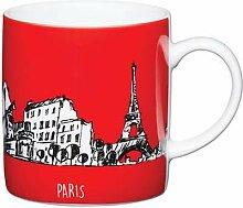 Kitchen Craft Paris Rot Porzellan Espresso Tasse