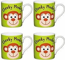 Kitchen Craft Tassen aus feinem Cheeky Monkey