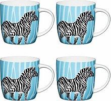 Kitchen Craft Zebra, Fassförmige Becher mit