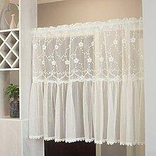 Kitchen Curtains Scheibengardine Weib Cafe