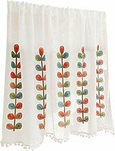 Kitchen Curtains Scheibengardine Weib Kurzgardine