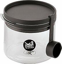 Kitchen Jars Borosilikatglas Glas/Messlöffel 0,5