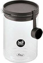 Kitchen Jars Borosilikatglas Glas/Messlöffel 1,0