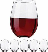 Kitchen Lux Weingläser ohne Stiel, 530 ml – Set