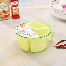 Kitchen round four seasoning box transparent with