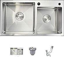 Kitchen Sinks 304 Edelstahl Dickes handgemachtes