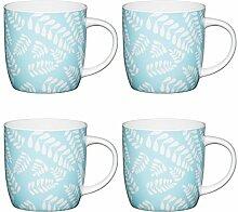 KitchenCraft Blaues Blatt Fassbecher mit
