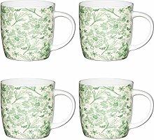 KitchenCraft Botanisches Blatt Fassförmige Becher