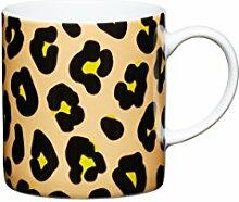 KitchenCraft Espressobecher Leopard 80ml - Porzellan