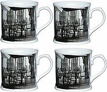 KitchenCraft Kaffeebecher aus Porzellan,