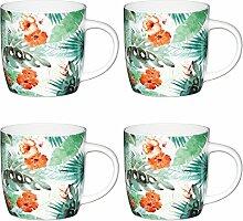 KitchenCraft Palmblatt Fassbecher mit Blumendruck,