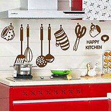 kitchenwares Löffel Tasse Messer Wand Aufkleber PVC Home Aufkleber House Vinyl Papier Dekoration Tapete Wohnzimmer Schlafzimmer Küche Kunst Bild DIY Wandmalereien Mädchen Jungen Baby Kinderzimmer Spielzimmer Decor