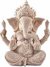 Kitchnexus Ganesha Buddha Statue Sandstein