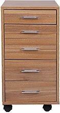 Kitechildhrrd Rollcontainer Holz Bürocontainer