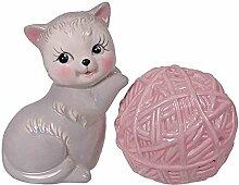 Kitten And Yarn Salt and Pepper Shaker Set: