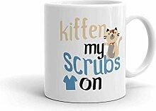 Kitten My Scrubs Becher für Katzenliebhaber Vet