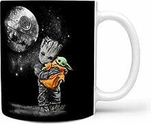 KittyliNO5 Baby Groot umarmt Porzellan Kaffeetasse