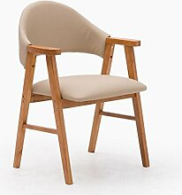Kitzen Hocker Massivholz Stuhl mit Armlehnen