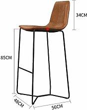 Kitzen Retro Küche Hocker mit Metall Beine High Hocker Bar Hocker -System Sitz Frühstück Bar, Höhe 45cm / 55cm / 65cm / 75cm / 85cm für Küche Counter Bar , 1 , 85cm- Bequemer Sitz