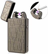 Kivors Wiederaufladbares USB-Feuerzeug, Doppelt,