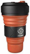 Kiwea Faltbarer BPA freier Silikon Kaffeebecher