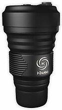 Kiwea Faltbarer Kaffeebecher aus Silikon mit
