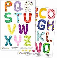 Kiwistar Alphabet mit bunten Texturen, 26