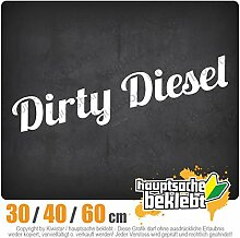 KIWISTAR - Dirty Diesel dreckiger Heckscheibenaufkleber Carsticker Decal