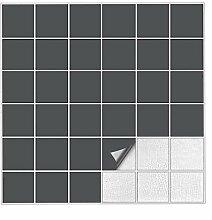 K/üche etc Kiwistar Fliesenaufkleber Braun 80 Gl/änzend 25 St/ück 7,5 x 7,5 cm F/ür Bad