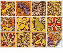 Kiwistar Fliesenmuster Stickerfliesen Klebefliesen