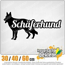KIWISTAR - Schäferhund mit Name Hund Heckscheibenaufkleber Carsticker Decal