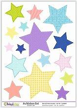 Kiwistar Sterne Flickenmuster, 16 Sterne,