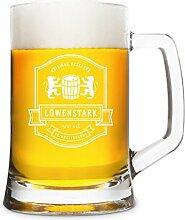 KIXY Bierkrug von Leonardo Bierseidel Gravur Glas