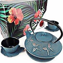 KIYOSHI Luxus japanisches Gusseisen-Teeservice