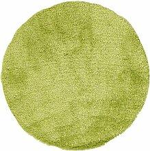 KiYou Shaggy KS-101 Teppich, rund, grün
