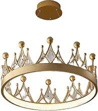 KJFSTJHMM Kristallleuchter mit Krone Anhänger,