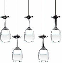 KJLARS Moderne Hängelampe Glaslampe mit 5