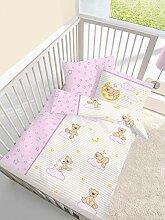 KK Baby Biber Bettwäsche Teddy auf Wolke 2 TLG.