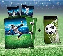 KK Bettwäsche Fußball 135x200 cm mit Duschtuch