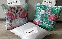 KK Flamingo Dekokissen Verwandlungs-Kissen mit