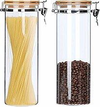 KKC Hoch Glasbehälter mit Deckel,Vorratsdosen