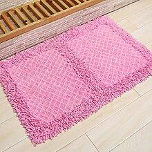 KKCF Absorbent Anti - Skid Wattepad Teppich, Fußmatte, Wohnzimmer, Bad, Bodenmatte Anti-Rutsch ( farbe : F , größe : 45*75cm )