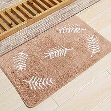 KKCF Absorbent Anti - Skid Wattepad Teppich, Fußmatte, Wohnzimmer, Bad, Bodenmatte Anti-Rutsch ( farbe : C , größe : 45*75cm )