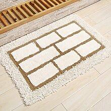 KKCF Absorbent Anti - Skid Wattepad Teppich, Fußmatte, Wohnzimmer, Bad, Bodenmatte Anti-Rutsch ( farbe : L , größe : 45*75cm )