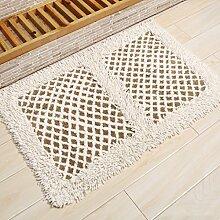 KKCF Absorbent Anti - Skid Wattepad Teppich, Fußmatte, Wohnzimmer, Bad, Bodenmatte Anti-Rutsch ( farbe : H , größe : 45*75cm )