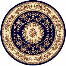 KKCF Amerikaner Runde Teppich für Wohnzimmer, Esszimmer, Kaffee, Tisch, Stuhl Computer Mat Anti-Rutsch ( farbe : E , größe : 1.0*1.0m )