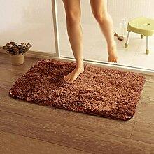 KKCF Anti-Rutsch-absorbierende Tür Matten, Bad-Matte, WC-Matte, Kaffee Farbe Wolldecke Pad Anti-Rutsch ( farbe : B4.5cm , größe : 0.8*1.2m )
