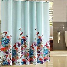 KKCF Bad Vorhang Polyester wasserdicht Schimmel-Bad Vorhang Verdickung warmer Badvorhang (11 Größen) Badezimmer ( größe : 240*200cm )