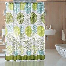 KKCF Badezimmer Duschvorhang Mildew dicken wasserdicht Polyester Stoff Duschvorhang (16 Größen) Badezimmer ( größe : 120*180CM )