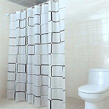 KKCF Badezimmer Duschvorhang Wasserdicht Duschvorhang Schimmel Hängende Vorhang Vorhang Trenn Vorhang (12 Größen) Badezimmer ( größe : 120*180CM )